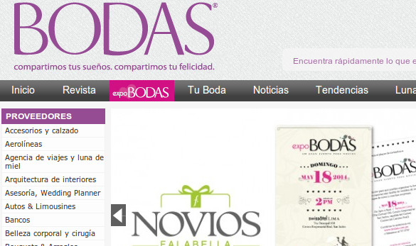Developed Bodas.com.pe